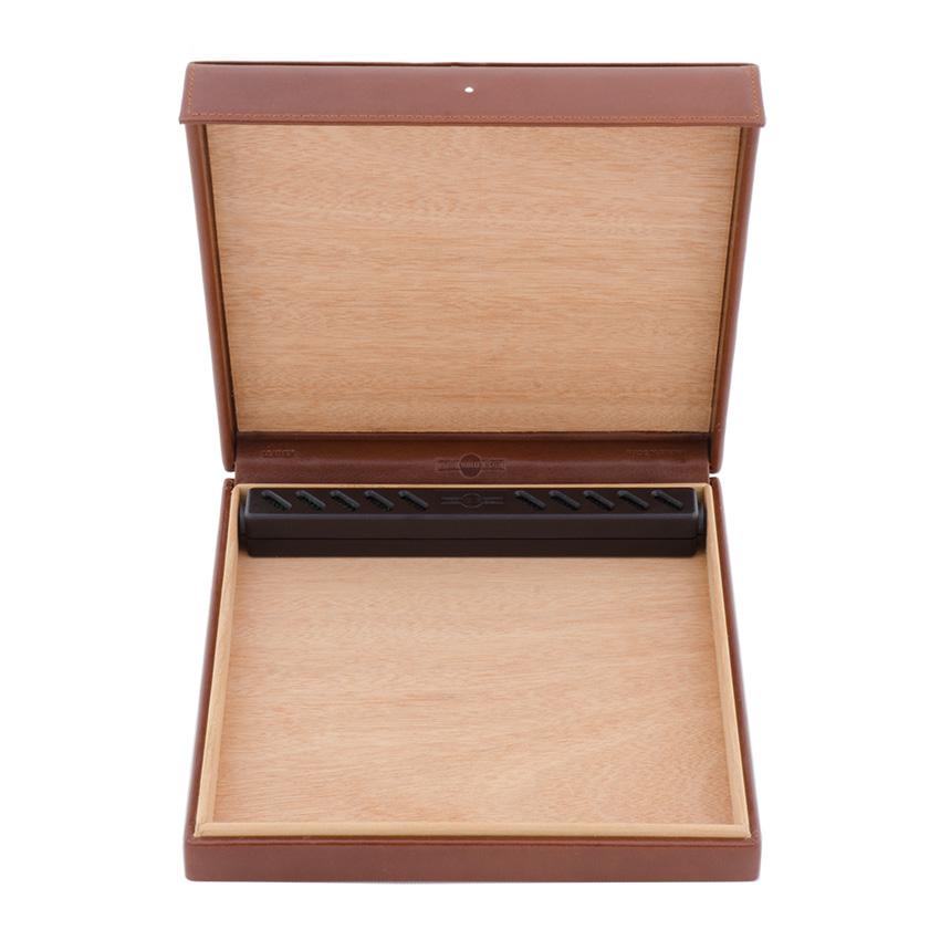 Dunhill Reise-Humidor Leder braun (10 Zigarren)