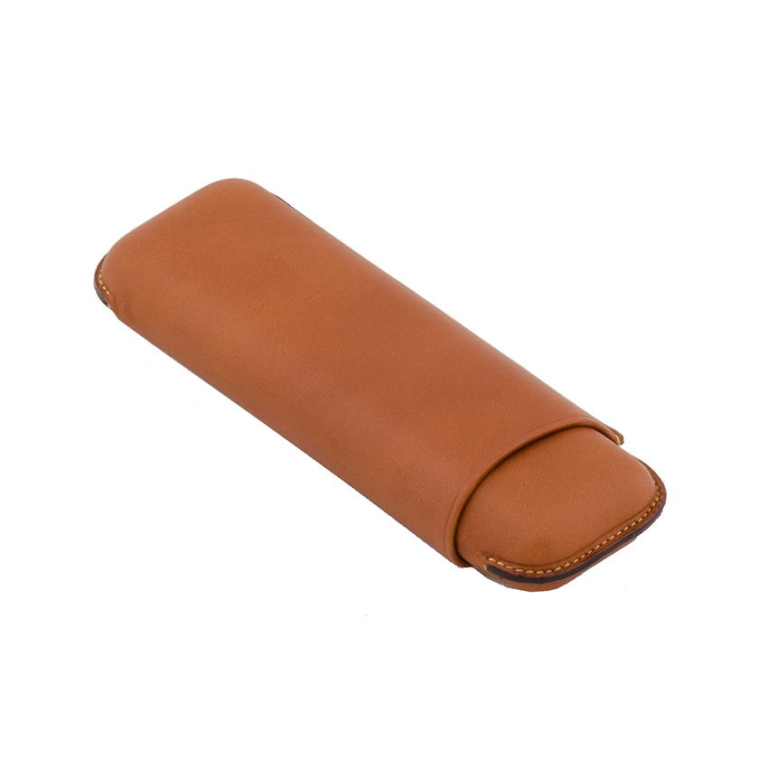 Wess Design 2er Zigarrenetui Leder Corona (braun)